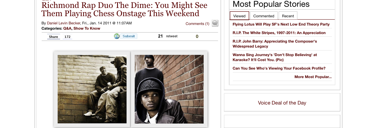 The Dime & DJ Crimson in SF Weekly